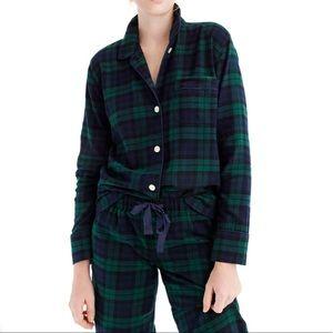 J. Crew Women's Black Watch Flannel Pajama Set XL